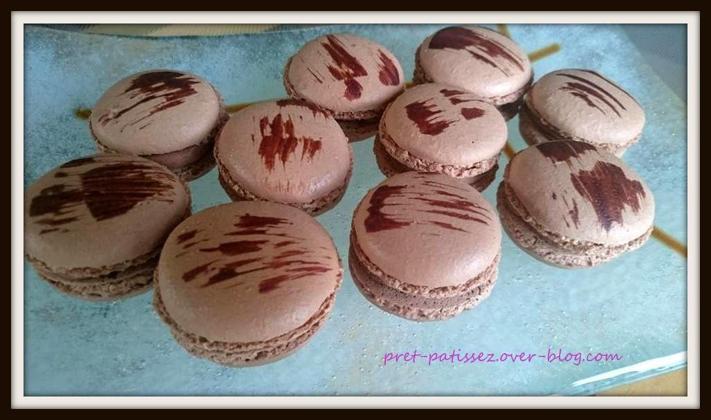 Macarons chocolat au lait et noix de coco