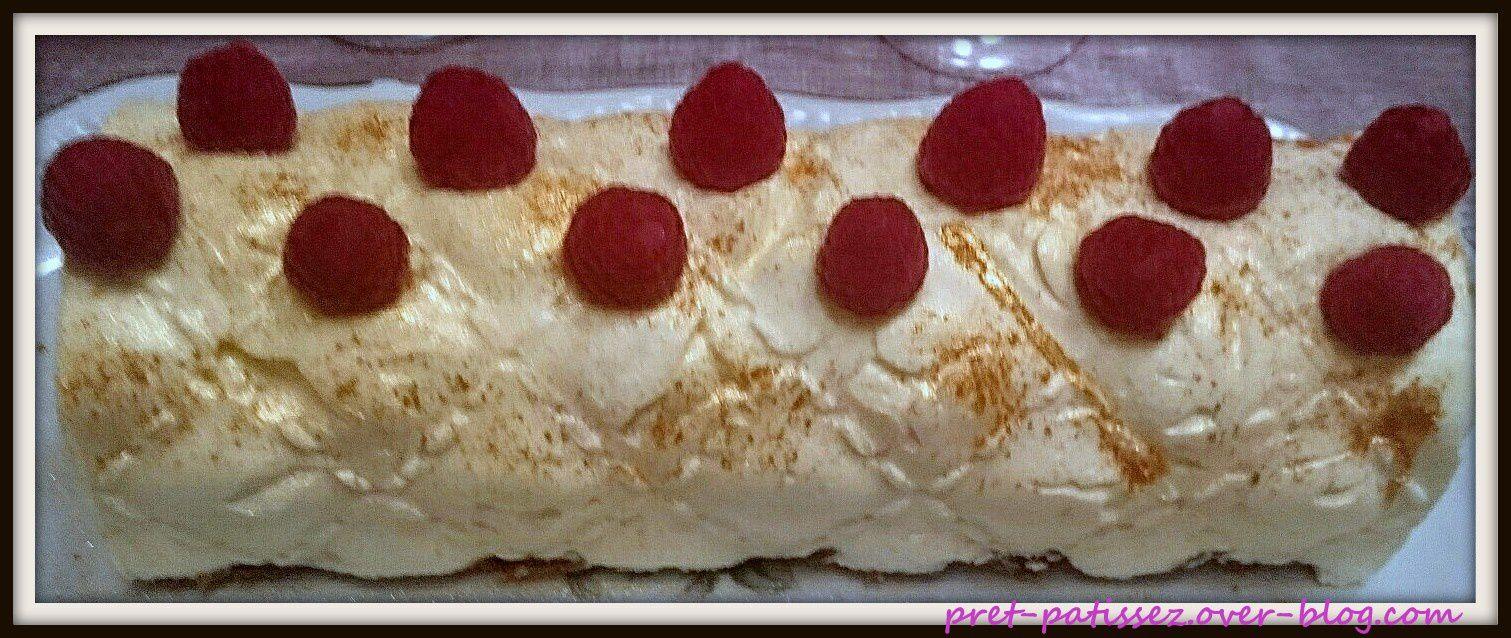Bûche façon cheesecake citron/fruits rouges