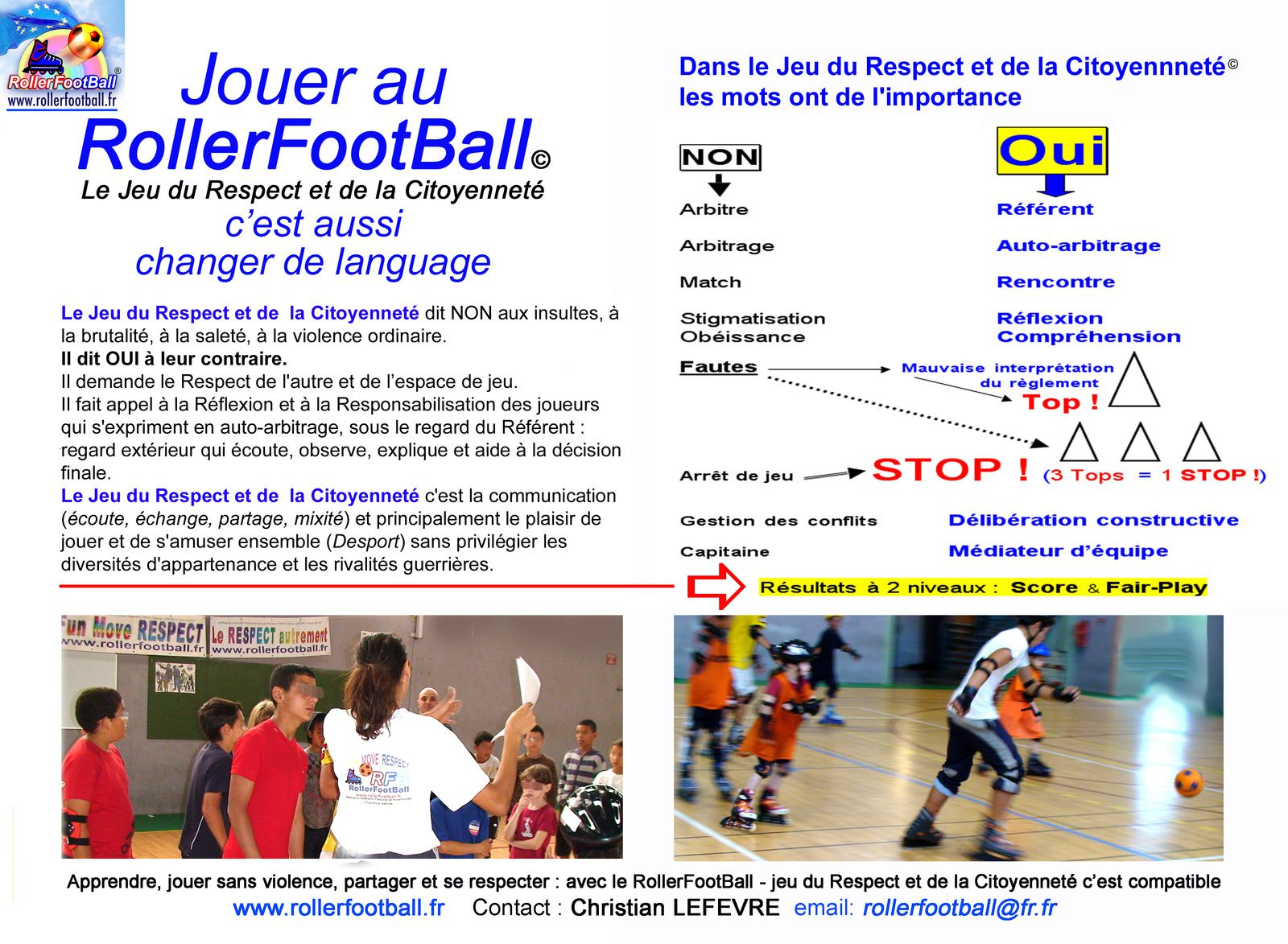 ROLLERFOOTBALL© = RÉVOLUTION LEXICALE (Formation CREPS)