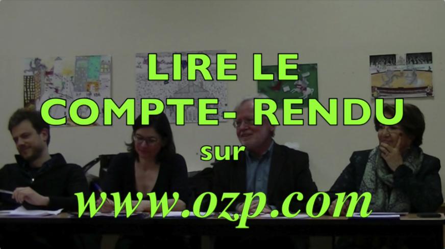 Marc DOUAIRE, Président de l'OZP entouré des representants des candidats à l'élection présidentielle