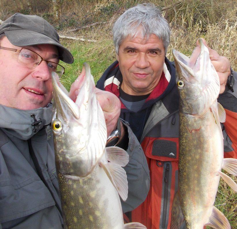 14 brochets pour 2 pêcheurs