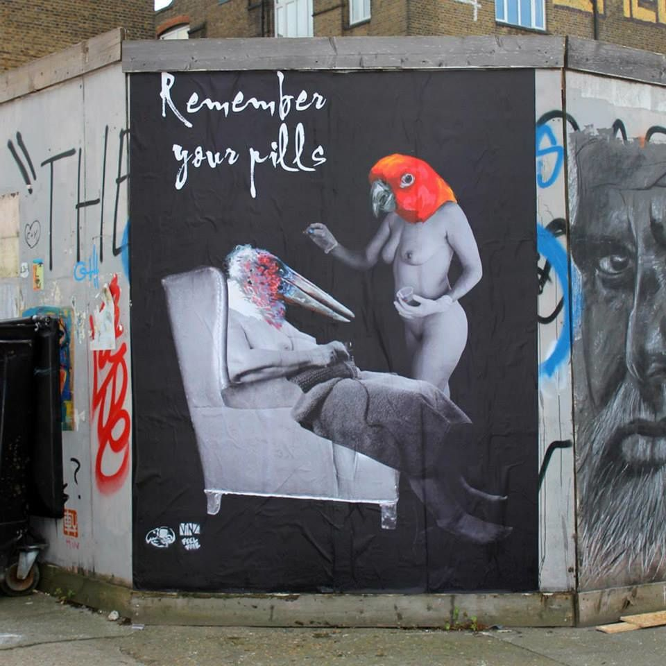 """Remember your pills"" Hackney Wick, London"