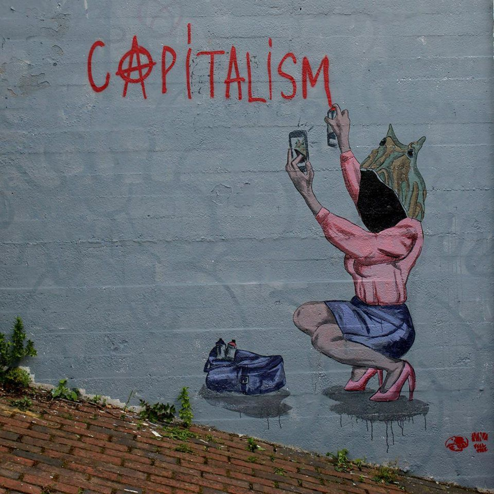 """Capitalism is the answer"" Somewhere in Hackney Wick, London"