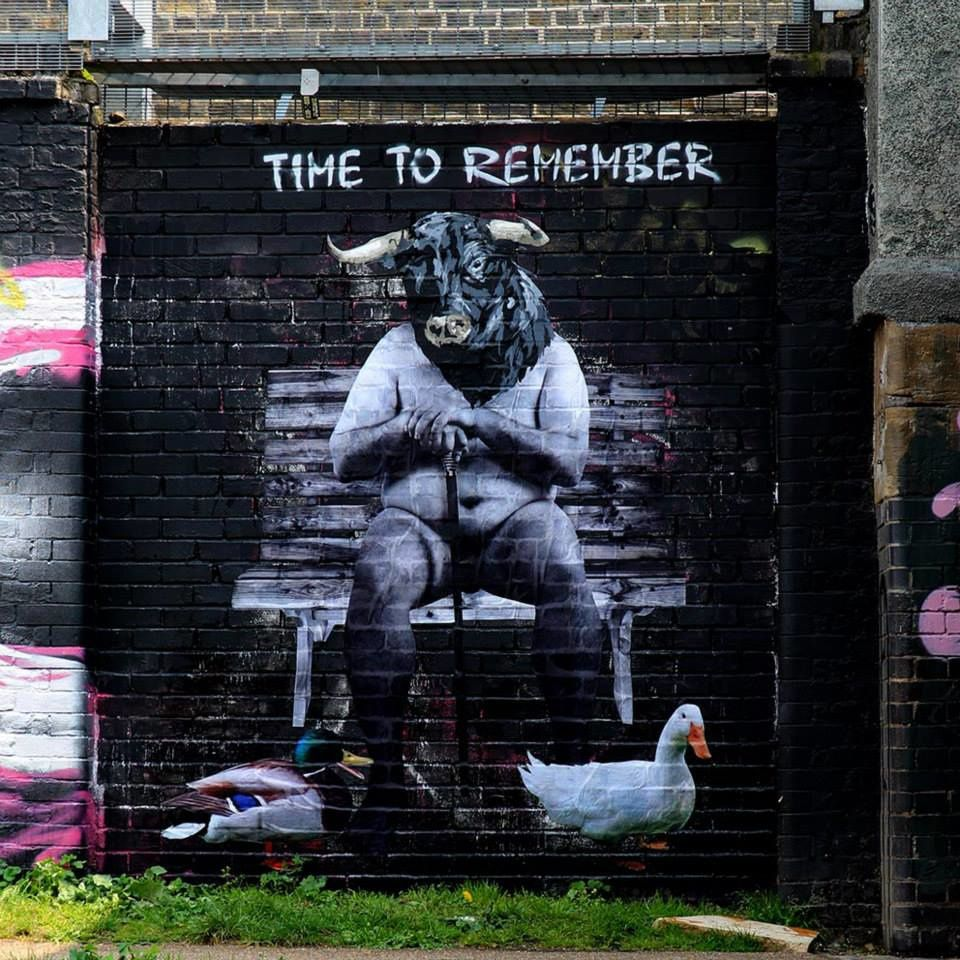 """Time to remember"" White Post lane under the bridge, Hackney wick, london"