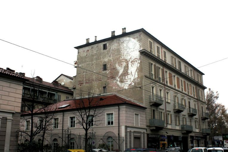NizzArt Intervention in Turin, Italy. November 2013