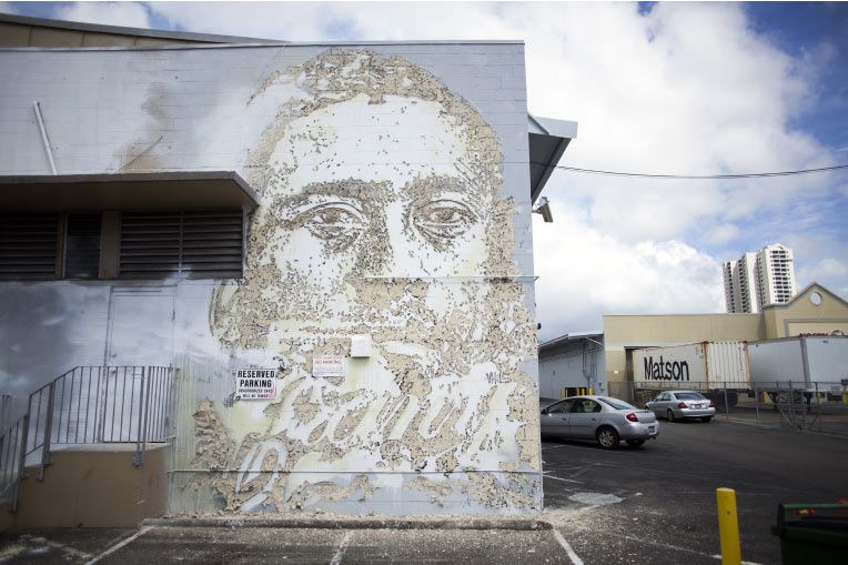Pow! Wow! Hawaii Vhils in Polynesia. February 2014