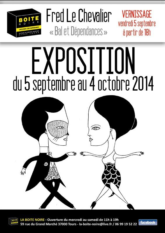 Fred le Chevalier new exhibition in Tours, France