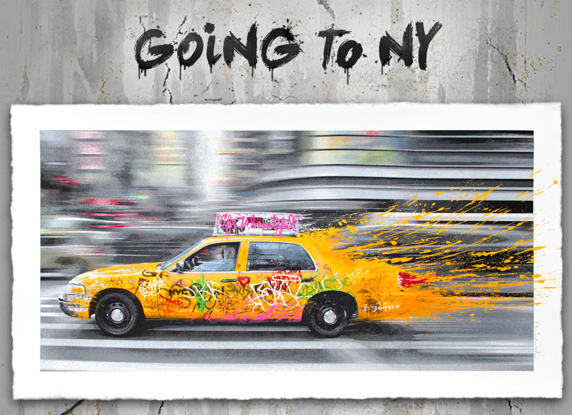 Mr.Brainwash &quot&#x3B;Going to NY&quot&#x3B; new print