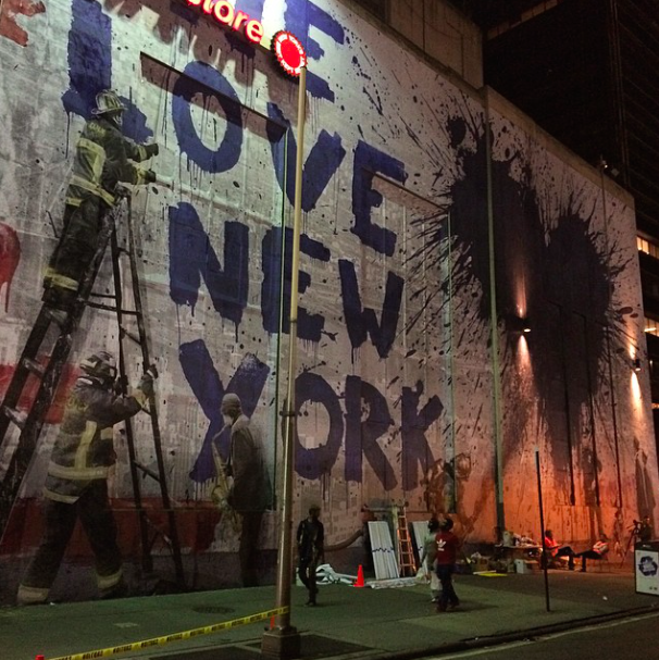 Mr.Brainwash new mural in NYC