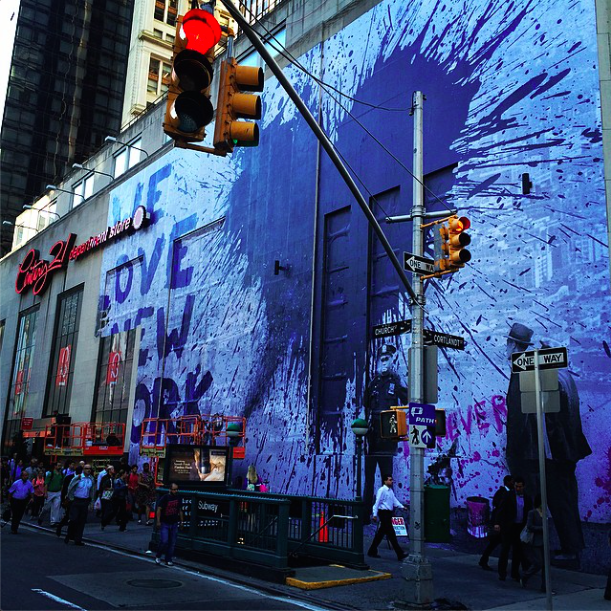 Mr brainwash new mural in nyc artmore for Mural mr brainwash