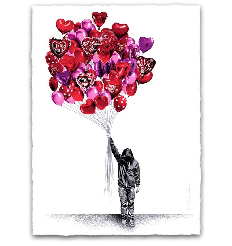 Mr.Brainwash new print available &quot&#x3B;Love is  the air&quot&#x3B;