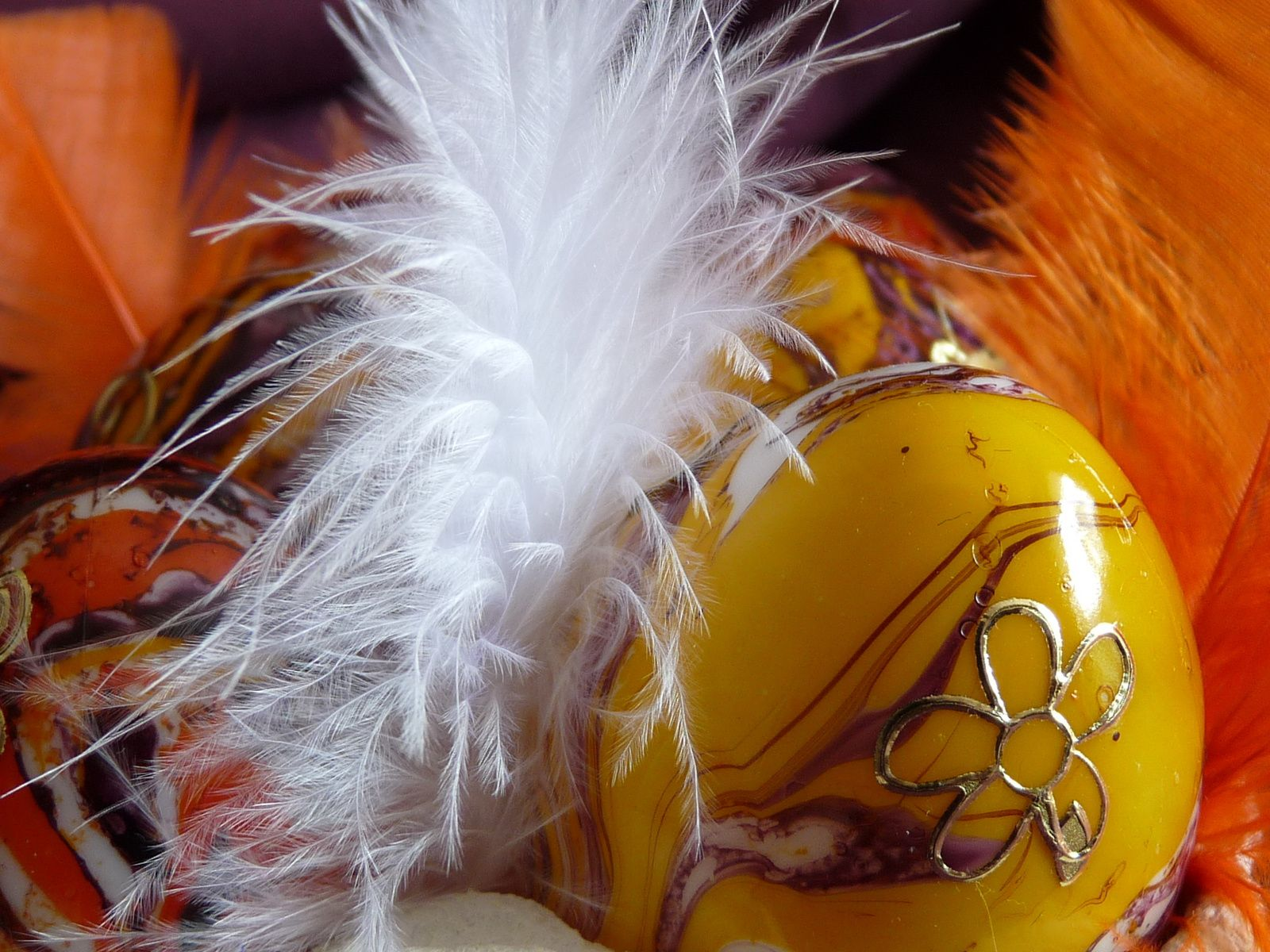 photos by Chry - déco d'oeufs de Pâques avec Easy Marble