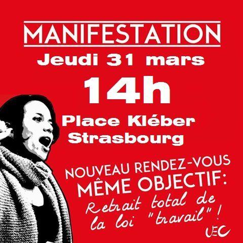 Ni amendable, ni négociable: tous en grève et à la manif pour le retrait du projet de loi travail le 31 mars !