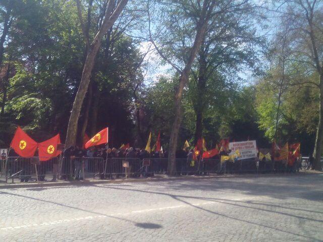 Avec le peuple kurde en lutte, contre la venue d'Ahmet Davutoğlu à Strasbourg
