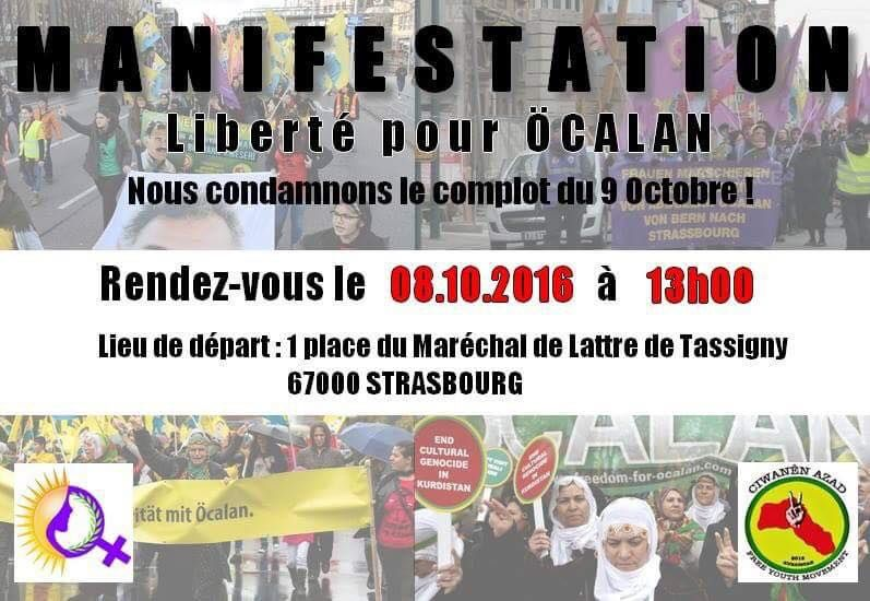 Contre le complot du 9 octobre, libération d'Abdullah Ocalan !