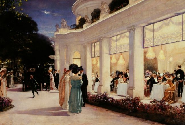 """Crédit : Henri Gervex """"Une soirée au Pré-Catelan"""", 1909. Huile sur toile, 217 x 318 cm © Paris, Musée Carnavalet/ Roger-Viollet"""