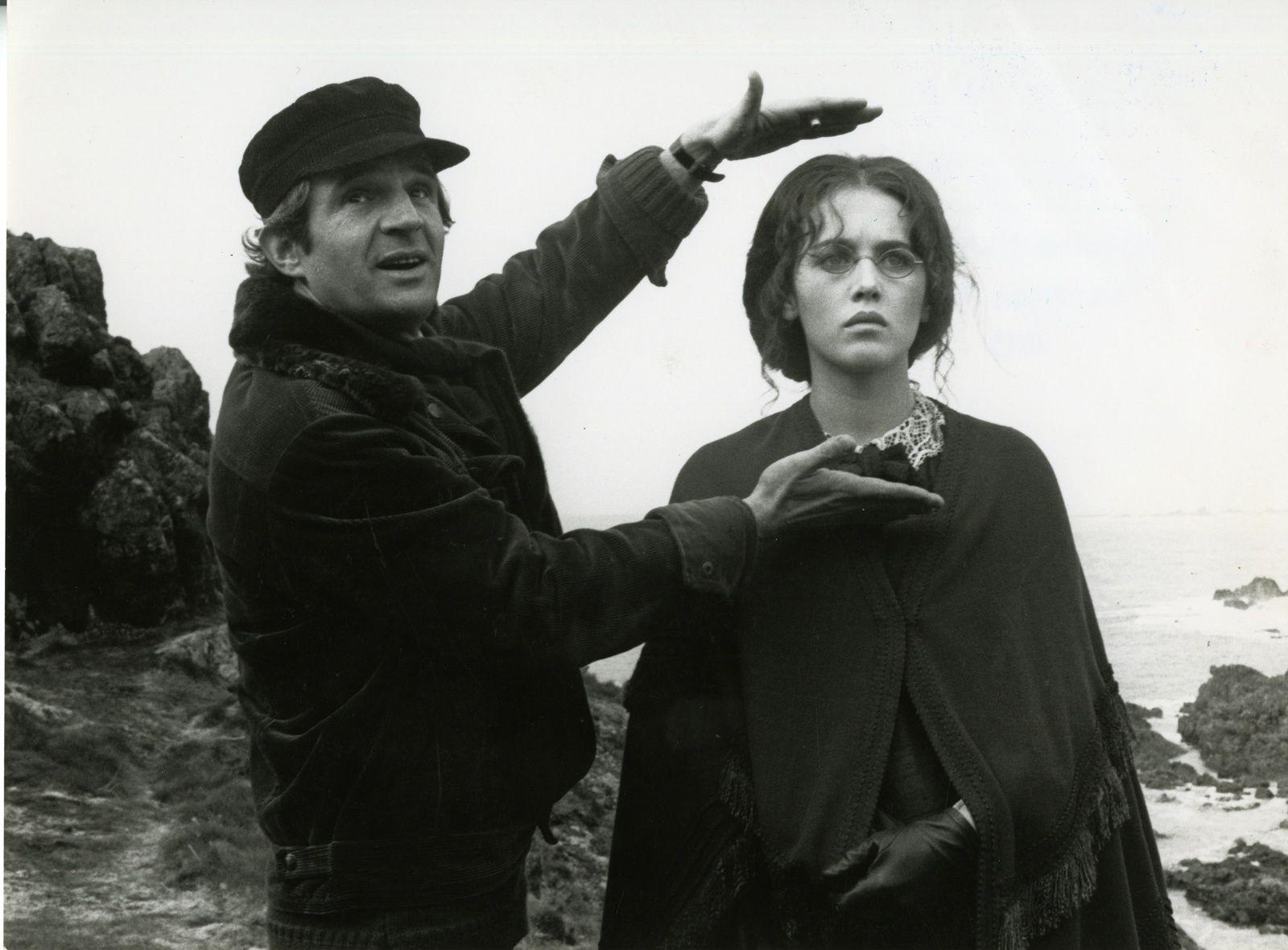 François Truffaut et Isabelle Adjani sur le tournage de L'Histoire d'Adèle H. de François Truffaut 1975. Photographie Bernard Prim © Monique Prim