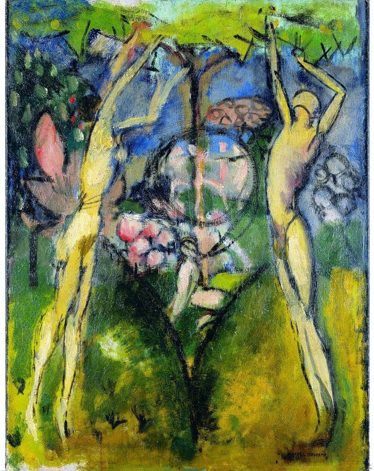 MARCEL DUCHAMP Le Printemps ou Jeune homme et jeune fille dans le printemps 1911, huile sur toile, 65.70 x 50.20 cm The Vera and Arturo Scharz Collection of Dada and Surrealist  Art in the Israel Museum Collection, Jérusalem © succession Marcel Duchamp / ADAGP, Paris 2014