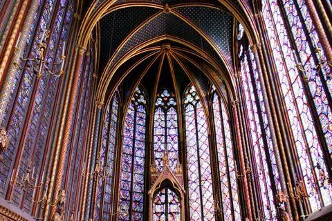 Sainte Chapelle de Paris, Vue de la chapelle haute, 1239-1248