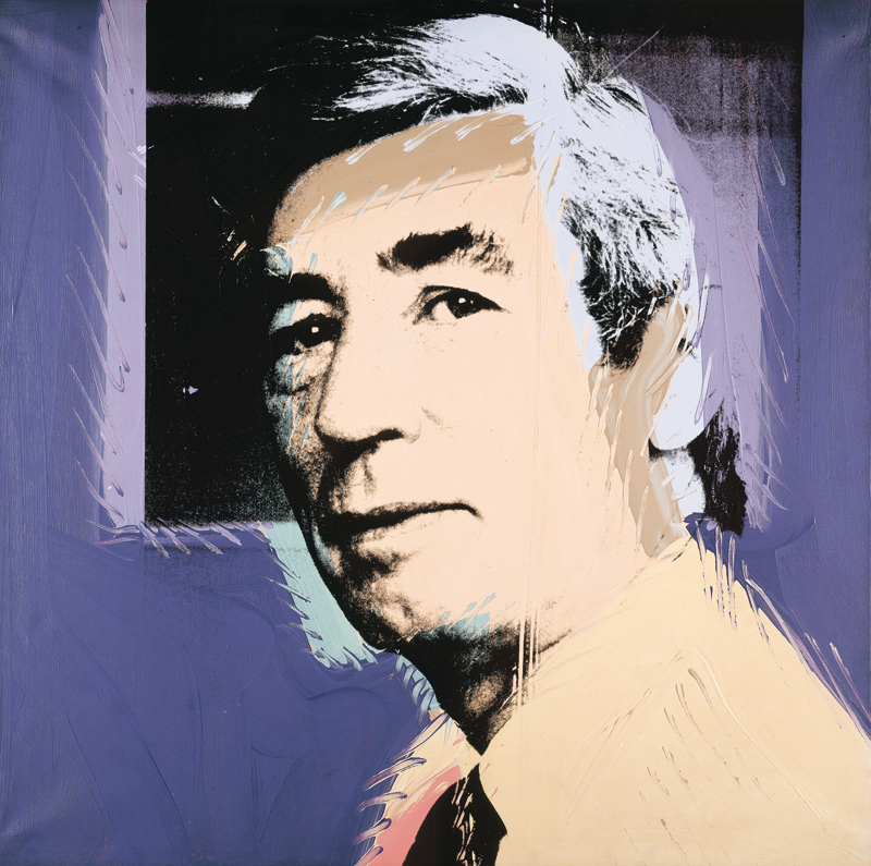Andy Warhol, Portrait d'Hergé, 1977 Sérigraphie sur toile rehaussée d'acrylique, Collection particulière © The Andy Warhol Foundation for the Visual Arts, Inc. / ADAGP, Paris 2016 - © Jean–Pol Stercq / ADAGP, Paris 2016