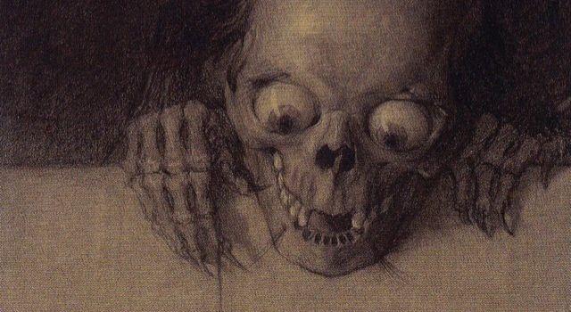 Julien-Adolphe Duvocelle, Crâne aux yeux exorbités