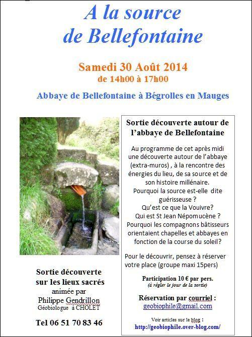 A la source de Bellefontaine samedi 30 Aout