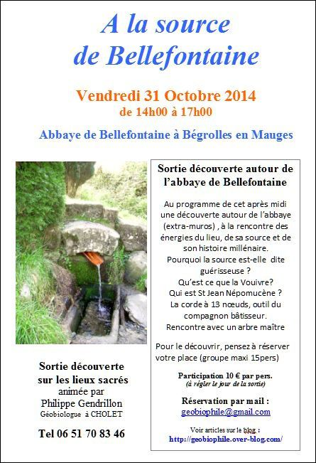 A la source de Bellefontaine le 31/10