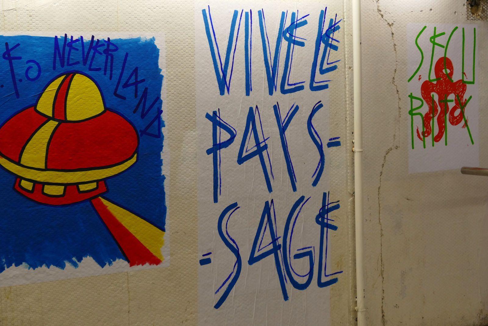 ...SP 38, Street artist en résidence Gare du Nord Quai 36...