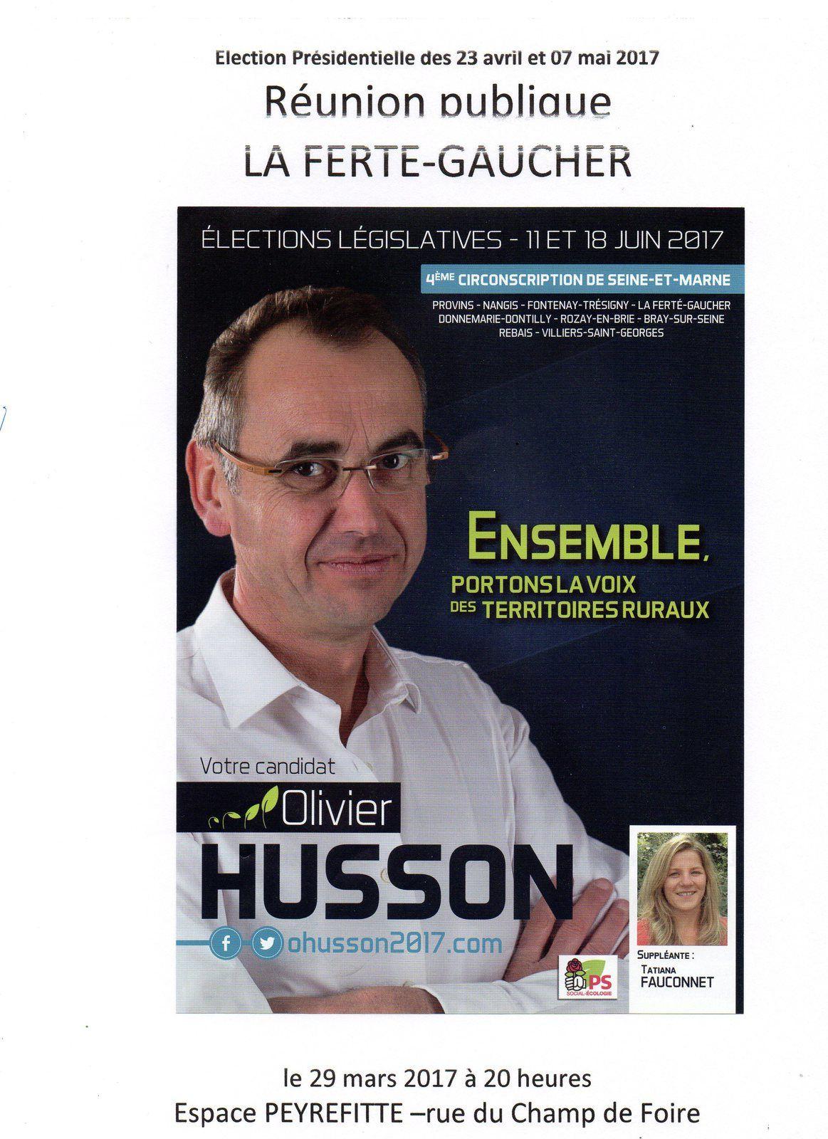 REUNION PUBLIQUE - 4ème circonscription de Seine et Marne