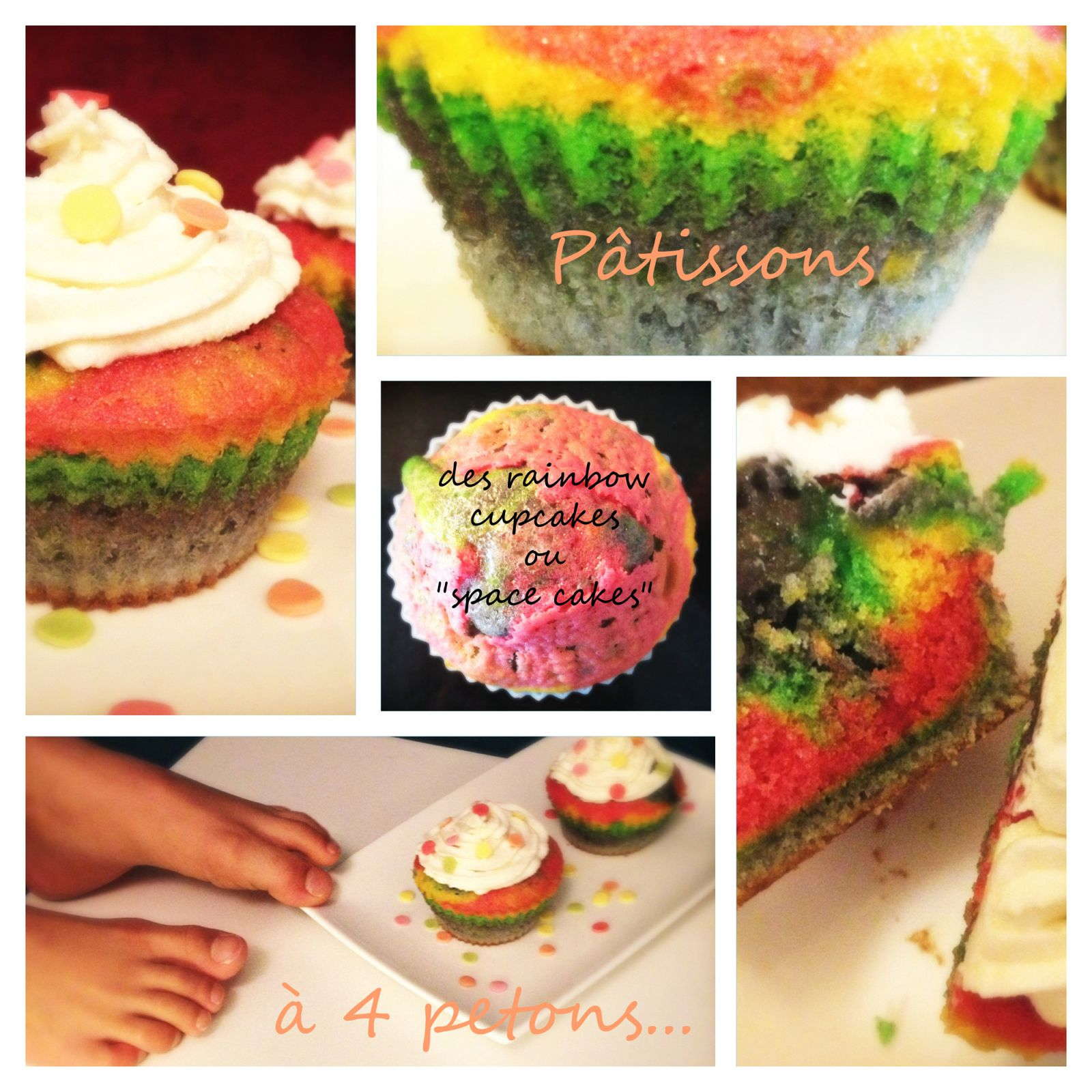 Rainbow cupcakes in the kitchen !