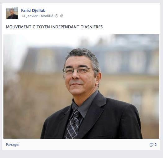 """Farid D. soutien du maire d'Asnieres a reconnu signer des articles radicaux sur les réseaux sociaux sous le pseudonyme de """"Harmagedoun"""""""