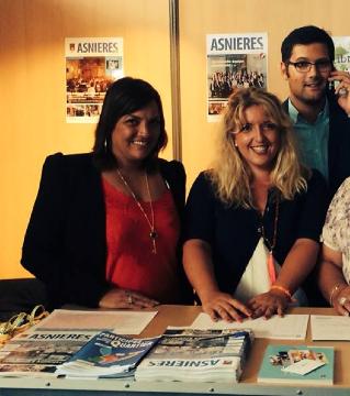 Nissa Bouedid, Maire-Adjointe MCI, en compagnie de ses collègues Adjoints de M.Aeschlimann: Mme Cazaban et Thomas Lam (UMP)