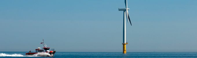 North Hoyle is the UK's first major offshore wind farm and represents a major milestone in the UK's drive towards cleaner sources of power.