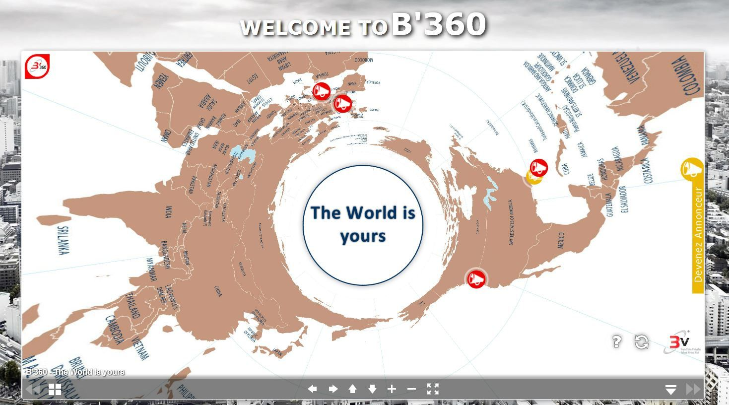 B'360 - Be 360 - The WORLD is YOURS - Dare to be better ? OK !  Ookawa-Corp blown by B'Digital, powered by B'Leader, spread by B'Sociable, amplified by B'Press, energized by New3S, hosted by3DWC.biz - B'360 - The WORLD is YOURS