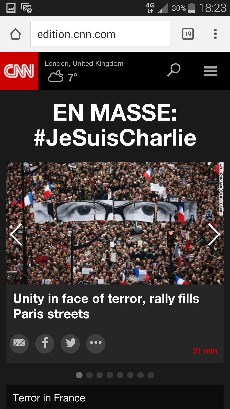 11 janvier 2015 : contre LE terrorisme