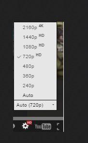 En bas à droite, le changement automatique du standard de visualisation vous renseignera sur le débit actuel de votre ligne (pour rappel, Youtube permet de visualiser automatiquement les videos selon le débit réel de votre ligne (nombre de frames/seconde ou fps)