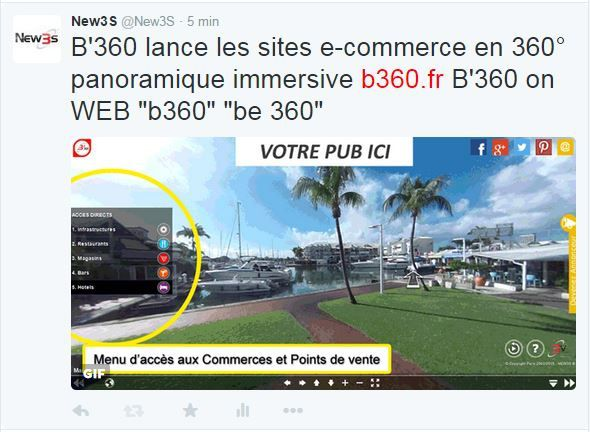 B'360 lance les sites e-commerce en 360° panoramique immersive www.b360.fr - B'360 on WEB &quot&#x3B;b360&quot&#x3B; &quot&#x3B;be 360&quot&#x3B;