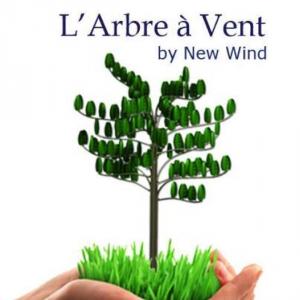 Energie du vent : La technologie de l'Arbre à vent, une éolienne de 10 mètres stylisée sous la forme d'un tronc en acier