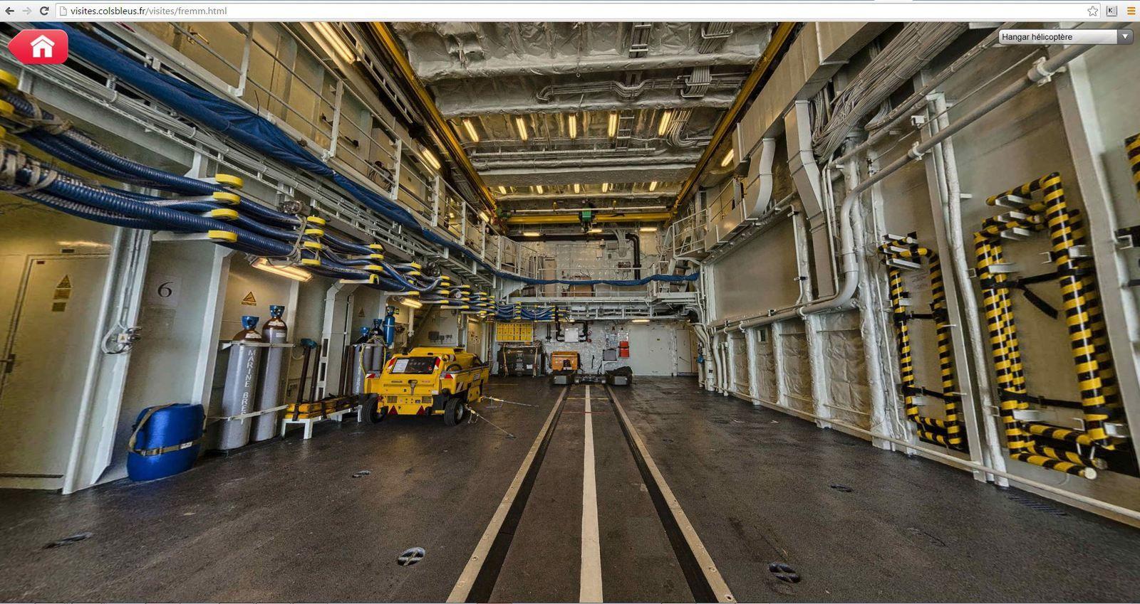 Visites virtuelles 360° des bâtiments et aéronefs de la Marine Nationale
