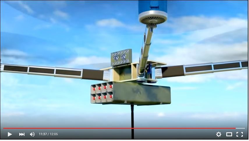 Russia Unmanned Gun &amp&#x3B; Missile Copter Container System Combat 3D Simulation