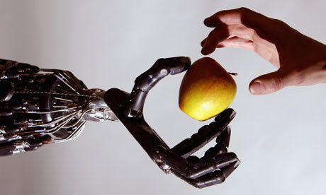 Robotics will change the relationship between humans and machines as the gap between the made world and ourselves closes. Photograph: Jeff J Mitchell/Getty