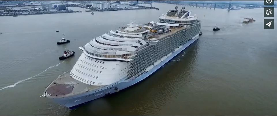 'Harmony Of the seas' filmé par un drone OPA Media ' promu par OOKAWA