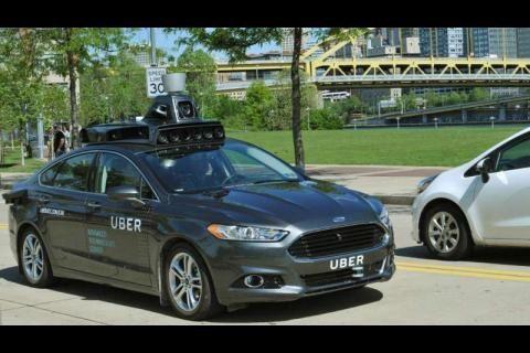 La voiture autonome Uber testée à Pittsburgh en Pennsylvanie