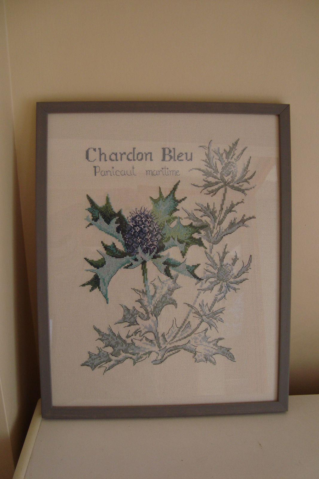 Broderie le chardon bleu