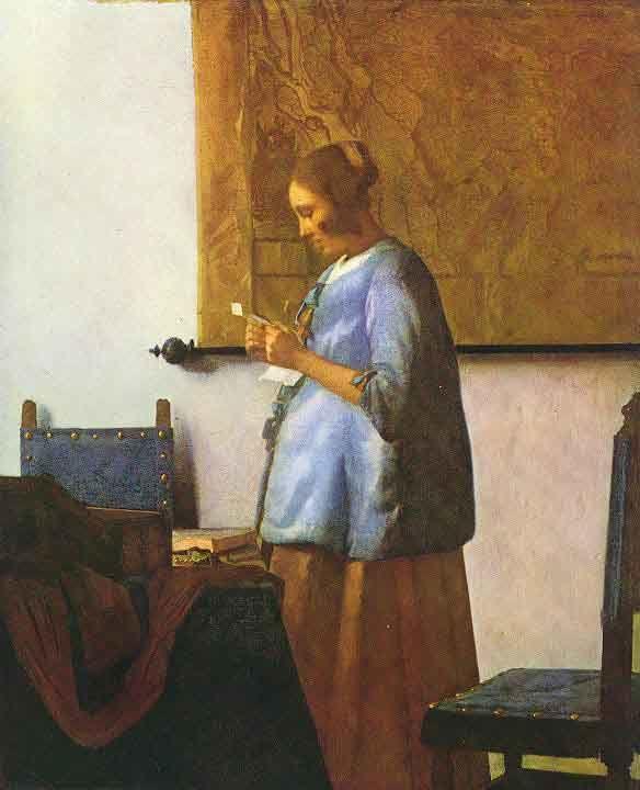 Déclinaison de la liseuse en bleu de Vermeer...