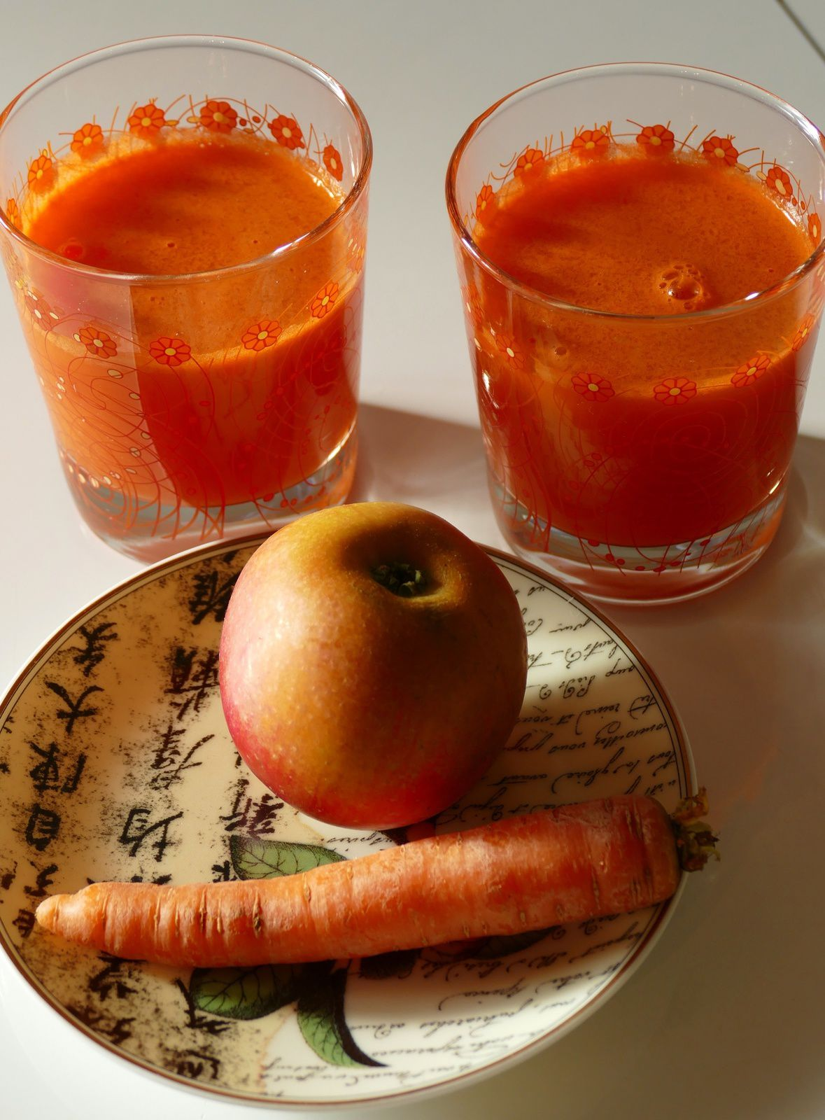 jus orange by Chry ... carottes, pommes, citron bergamote, gingembre