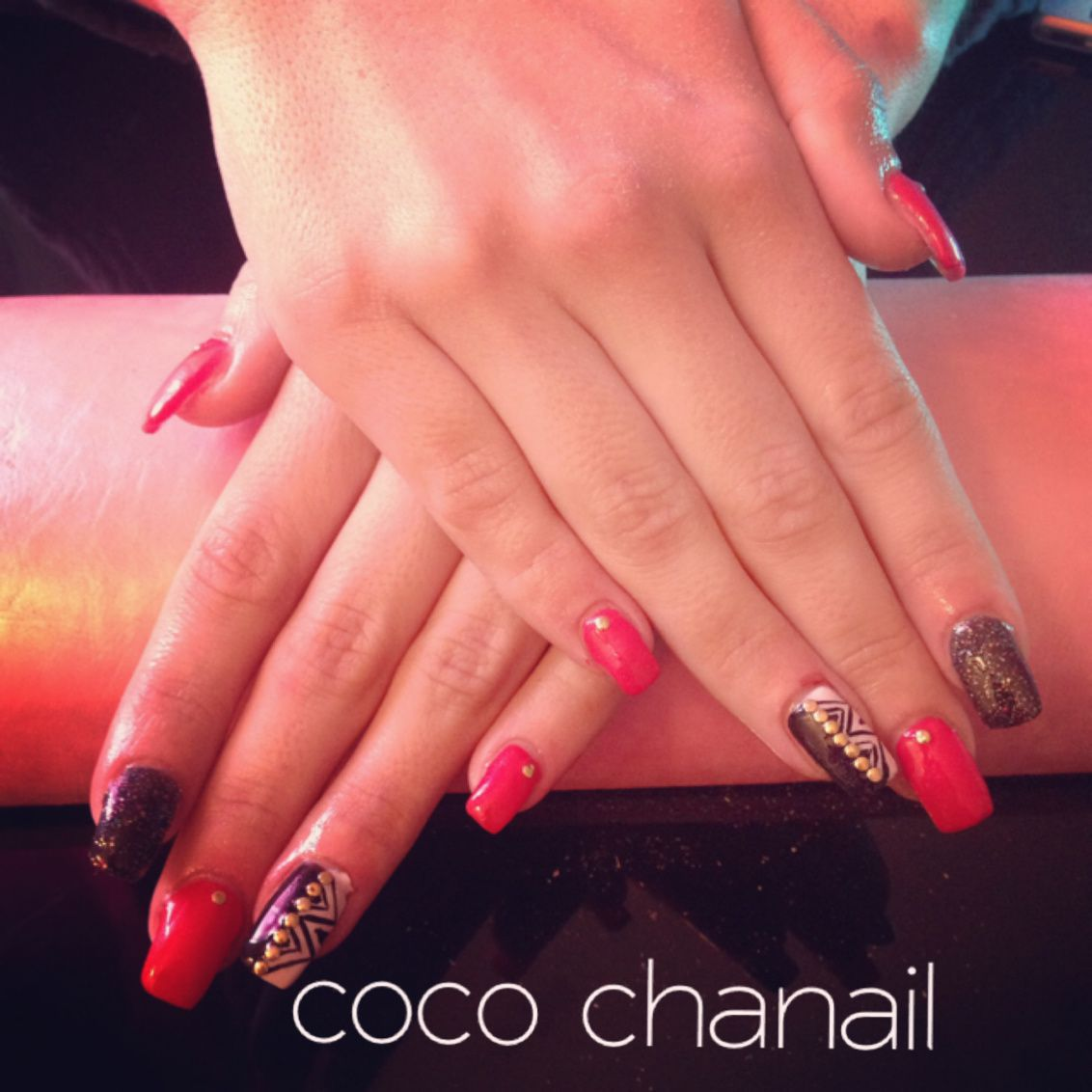 Deco Ongle Rouge Et Blanc Best Ongle Gel French Blanche Effet Coeur