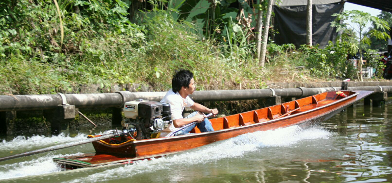 Along the klong