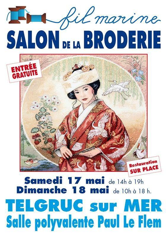 avec également la présence de France Broderie, de quoi vous régaler les yeux avec leur exposition d'ouvrage mais également l'estomac avec leurs salon de thé et restauration