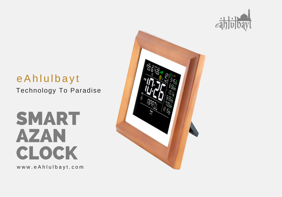 http://www.tahafunder.com/projects/eahlulbayt-the-worlds-first-truly-smart-azan-clock/